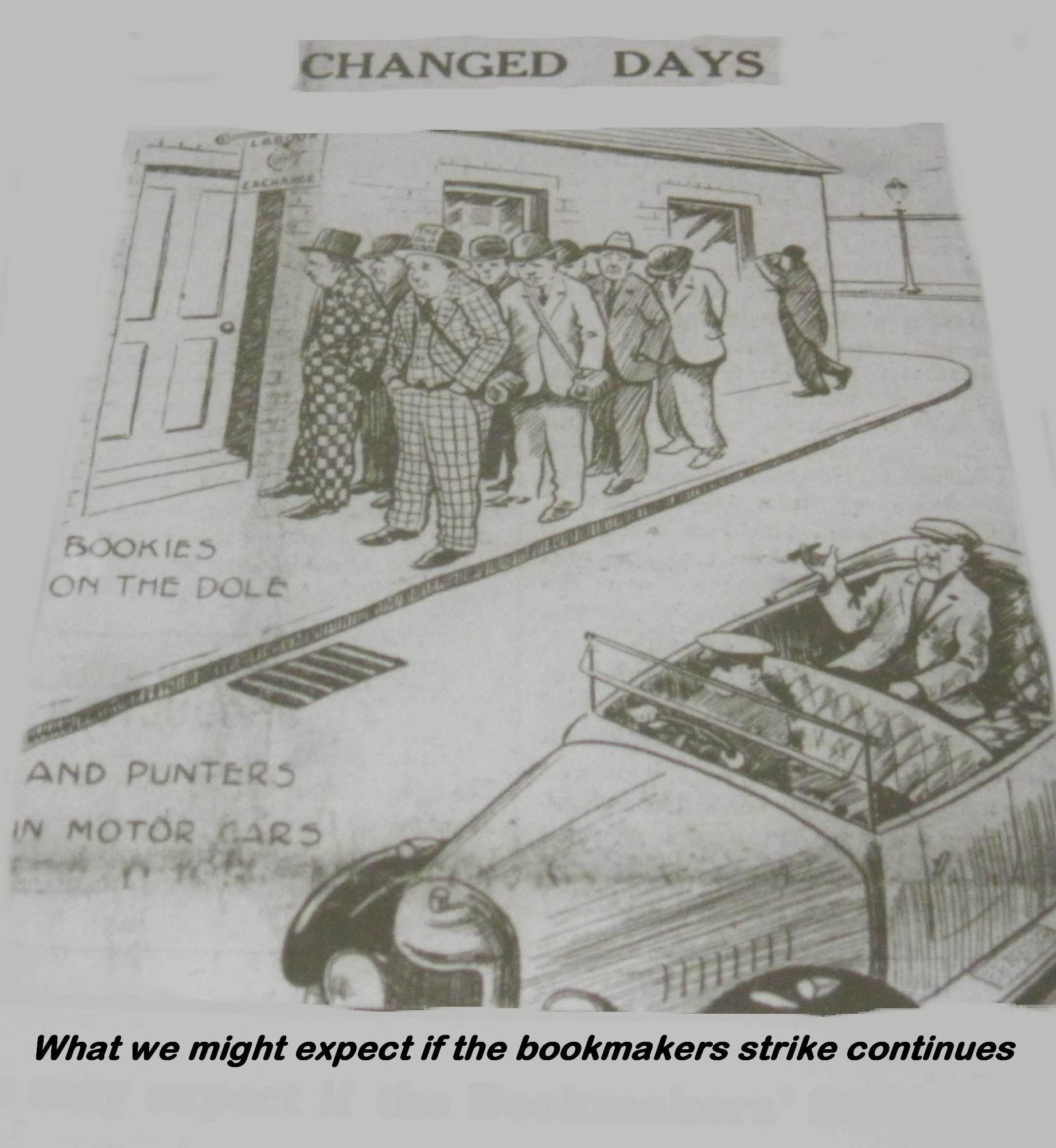 bookmakers strike